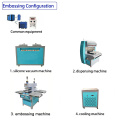 silicone label logo forming machine for garment clothes