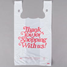 T-shirt Shopping Bags in White with Printing