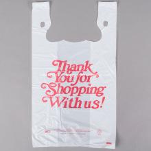 Сумки для покупок на футболках белого цвета с печатью