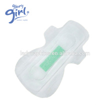 Breathable Winged Shape Green Chip Lady Anion Sanitary Napkin Exporter