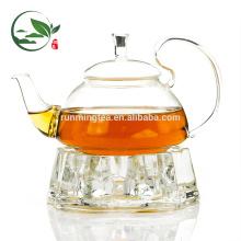 Juego de té de acero inoxidable con soporte