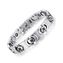 Top-Verkauf dauerhafte Armband Edelstahl Schmuck, Silber-Kreis-Kette Armbänder