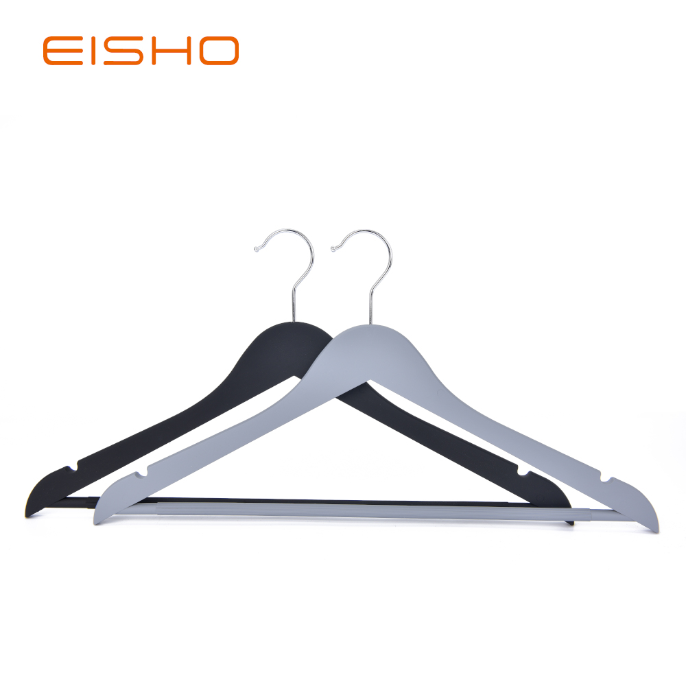 Eisho Solid Wood Black Laundry Wooden Shirts Hanger2