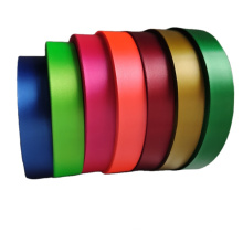 Hot selling single faced polyester satin ribbon for clothing label