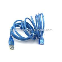 NEw 5m 15ft Clear Blue USB 2.0 Erweiterung Stecker auf Female Connector Kabel