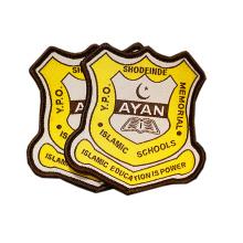 Custom Name Logo Woven School Badges for Uniform Clothing and Bag