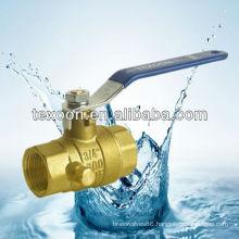 nipple full port female brass ball valves with drain(female thread)