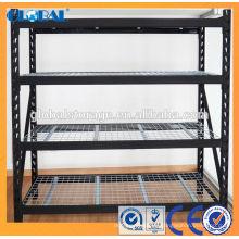 Rejilla industrial para servicio mediano / de polvo negro mate Recubierto con plataforma de alambre Serie A / molde Rejilla de tipo de soldadura