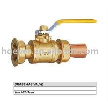 "7/8"" CE brass gas valve"