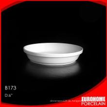 Großhandel aus China rein weiße Keramik Abendessen Teller Satz
