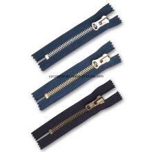 Best Price High Polished Light Golden Brass Zipper for Wallet