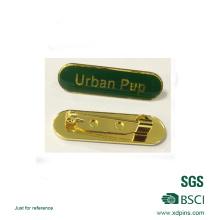 Green Color Soft Enamel Epoxy Nameplate Badge