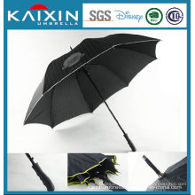 Rubber Painting Handle 8k Golf Umbrella with Bordering