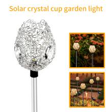 Lámpara de jardín con copa de cristal solar L-107WW Lámpara de césped