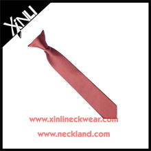 Beautiful Solid Color Polyester Clip-on Boy Tie