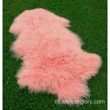 Curly Lamb Shearling Leather Fur Pelt