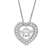 Сердце Форма 925 Серебряные Подвески Ювелирные изделия Танцы Алмаз