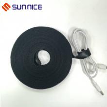 Correa de nylon reutilizable negra Cordones laterales dobles