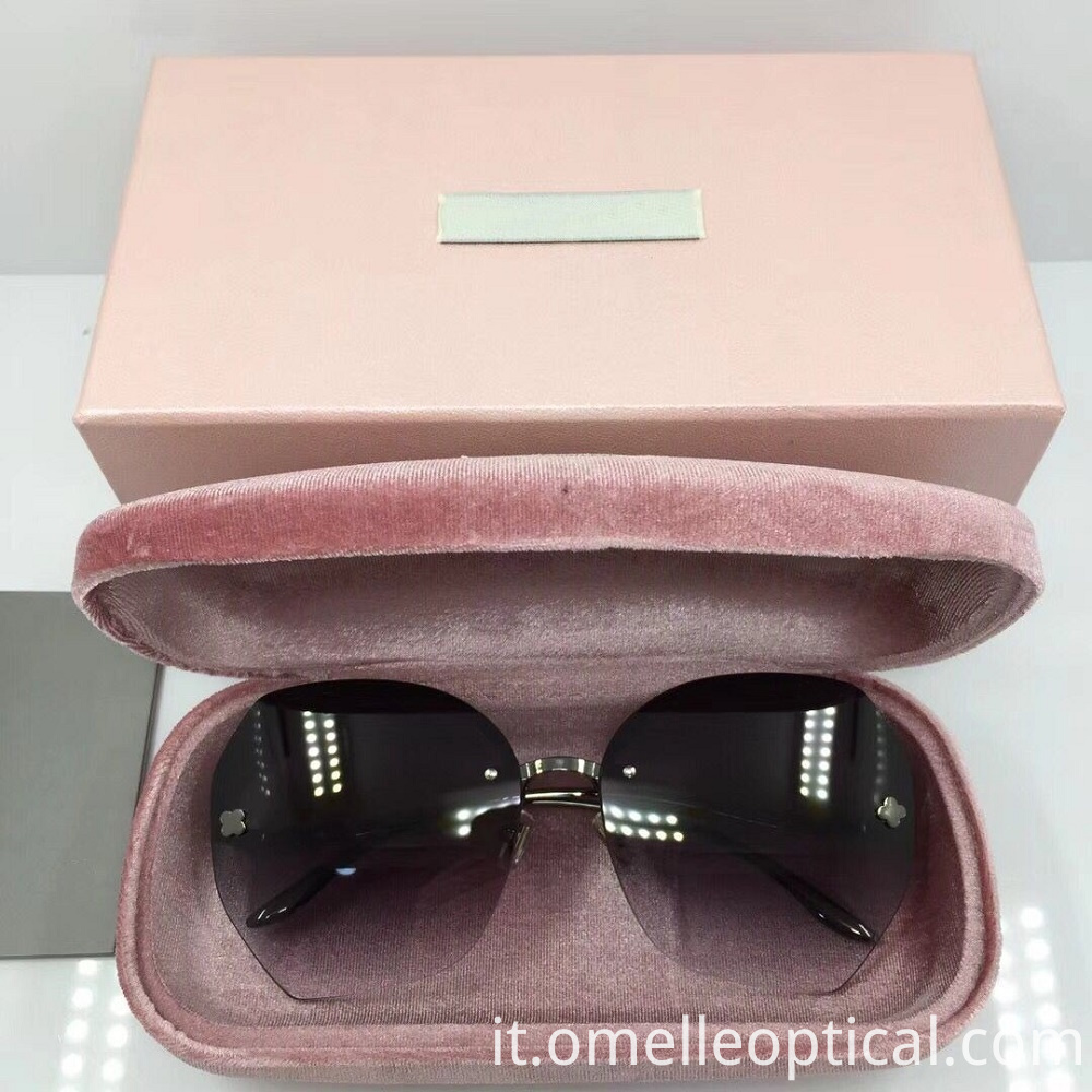 Female Rimless Sunglasses
