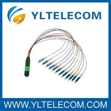MPO to LC Fiber Optic Patch Cord، 4، 8، 12، 24 Fiber for optical CATV