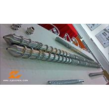 Twin Parallel Screw Barrel Double Screw Barrel PVC Granule Profile/Pellets