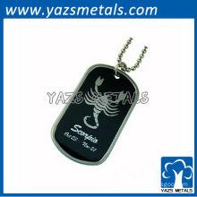 customize horoscope army dog tag, scorpio dog tag