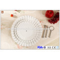 Hot sale 3 tiers white porcelain cake plate / wedding cake stand