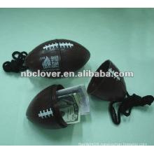 football shape beach safe box with strap