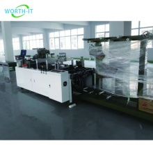 High speed hot melt glue twisted paper rope handle machine for producing shopping bag