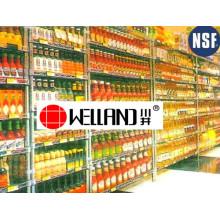Ajustável Chrome Metal enlatado Display de alimentos para supermercado / loja