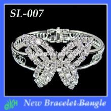 Nuevo tipo de la mariposa de la manera de la venta al por mayor mini brazaletes, pulsera del rhinestone