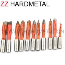Hard Alloy Carbide Tipped Through-Hole (V point) Boring Bit