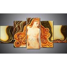 Moderno arte de la pared decoración del hogar mujer desnudo pintura al óleo (FI-022)