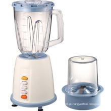 Máquina liquidificadora e processadora de alimentos com botão elétrico para cozinha