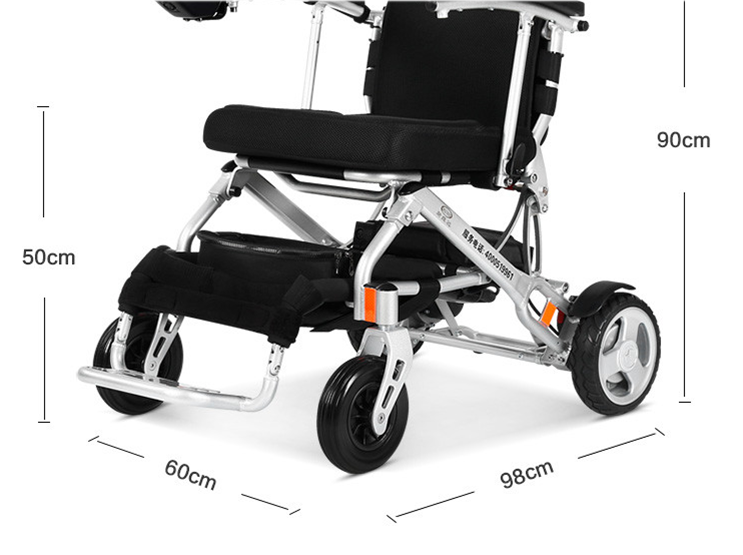 Automatic folding electric wheelchair