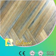 Le chêne gaufré ciré par coutume de 12.3mm a laminé le plancher Lamiante