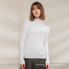Womens cable knit sweater Mock-Neck sweater long sleeve pullover sweater