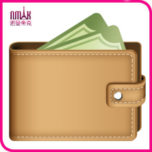 New Stylish Mens Custom Wallet PU Pockets Card Clutch Bifold Leather Purse Light Brown