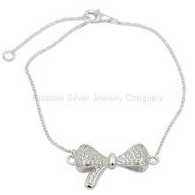 , Bijoux en argent, Bijoux en laiton, Pretty Bowknot Bracelet (KT3011)