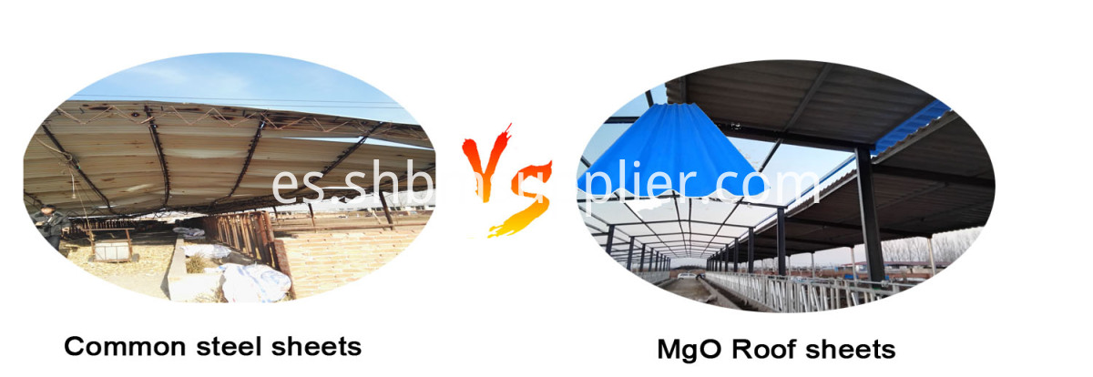 Heat-insulation No-asbestos MgO Corrugated Roof Sheet