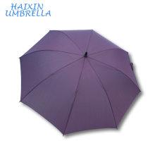 El mejor regalo para el socio comercial La fibra de vidrio del paraguas del golf del eje largo del color púrpura de 60 pulgadas arqueó con la manija de la espuma