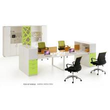 Mesa de estación de trabajo con diseño exclusivo con 4 asientos (FOH-SF-M3614)