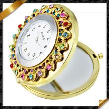 Зеркало часов Rhinestone, ювелирные изделия зеркала, составляют карманное зеркало (MW003)