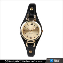 Gold Fashion Women watches, stainless steel case back watch lady