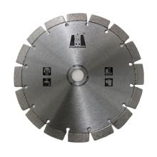 Laser welded 230mm diamond cutter cutting disc reinforced concrete saw blade