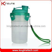 Garrafa protetora de proteína 300ml com filtro e cordão (KL-7401)