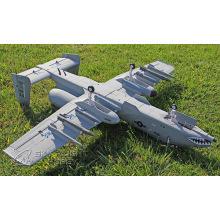 Material de espuma Avión eléctrico RC con 2 * 2100kv motor sin escobillas