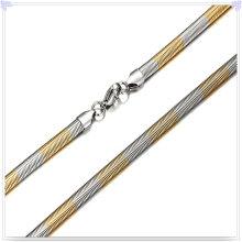 Cadena de acero inoxidable de la joyería de la manera del collar de la manera (SH041)