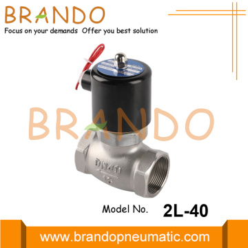 "1-1 / 2 ""2L-40 Stainless Steel Steam Solenoid Valve 220VAC"