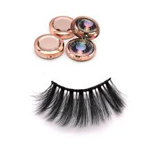 DL013 Hitomi custom eyelash packaging wholesale silk eyelashes double layer private label 25mm silk eyelashes